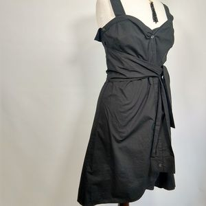 NWT Derek Lam funky black cotton dress 4